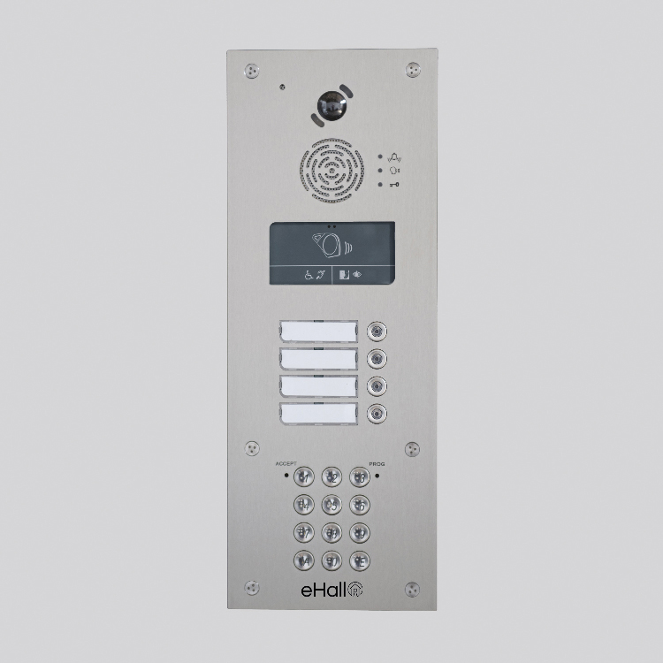 Portier vidéo GSM 12 boutons d'appel avec clavier