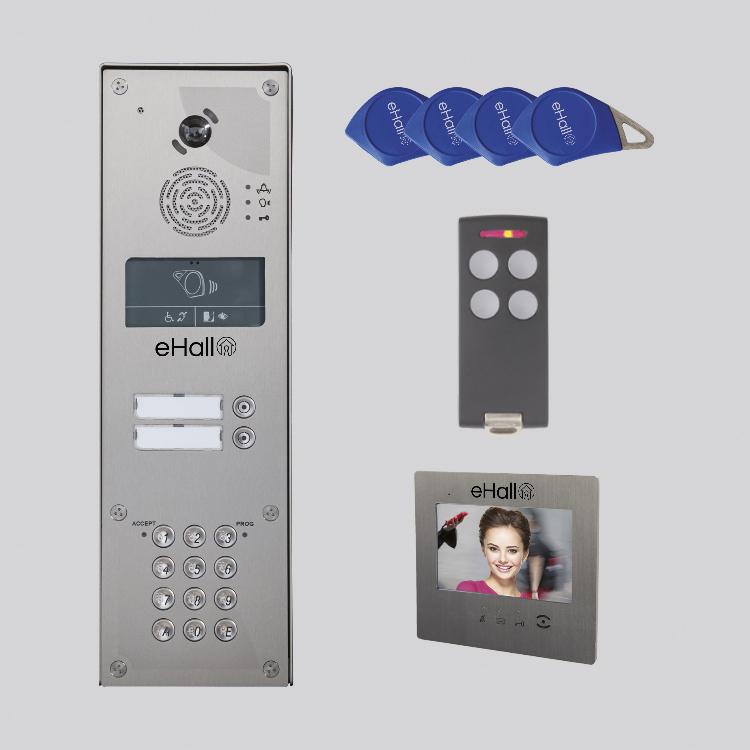 """Kit video IP/GSM 1 BP saillie + clavier - Moniteur 7"""" prépayé 10 ans"""