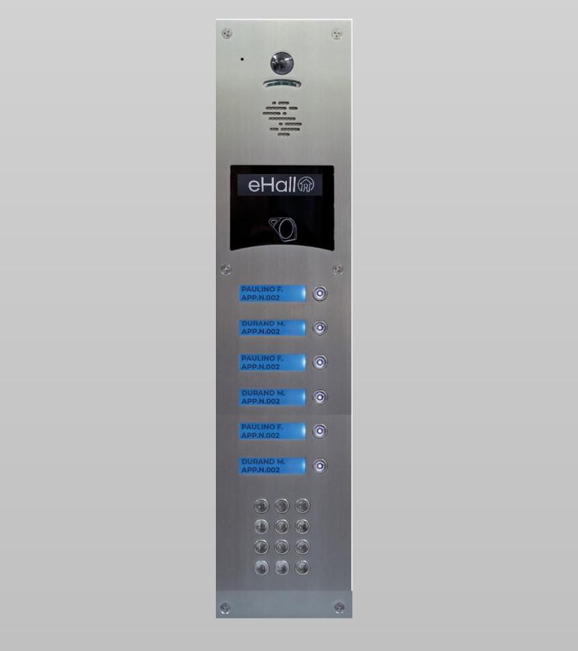 Portier vidéo GSM 6 boutons d'appel avec clavier