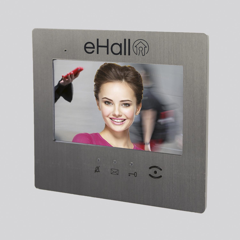 "Moniteur IP video 7"" tactile INOX verni - résidentiel"