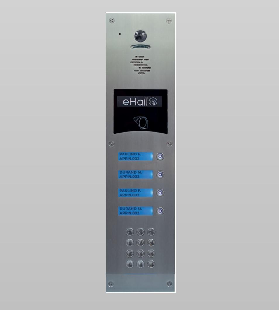 Portier vidéo GSM 4 boutons d'appel avec clavier